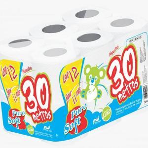 Papel higiênico folha dupla 24 rolos