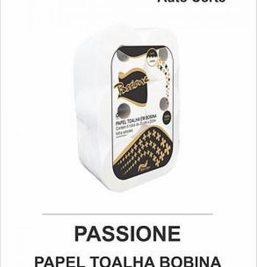 PASSIONE PAPEL TOALHA EM BOBINA 200 METROS - AUTO-CORTE