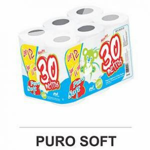 Puro Soft Papel Higiênico com 30M, com 12 ROLOS